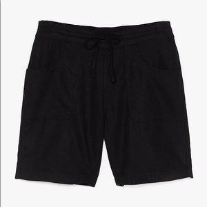 Nasty Gal Linen Mid Thigh Drawstring Shorts